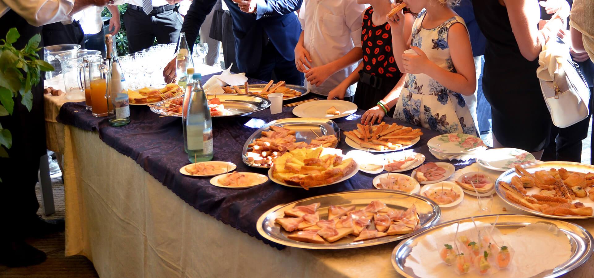Catering servizio - Pasticceria Acquario