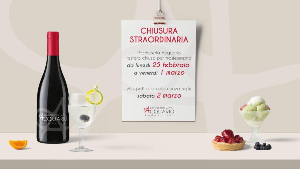 Chiusura Pasticceria Acquario - evidenza