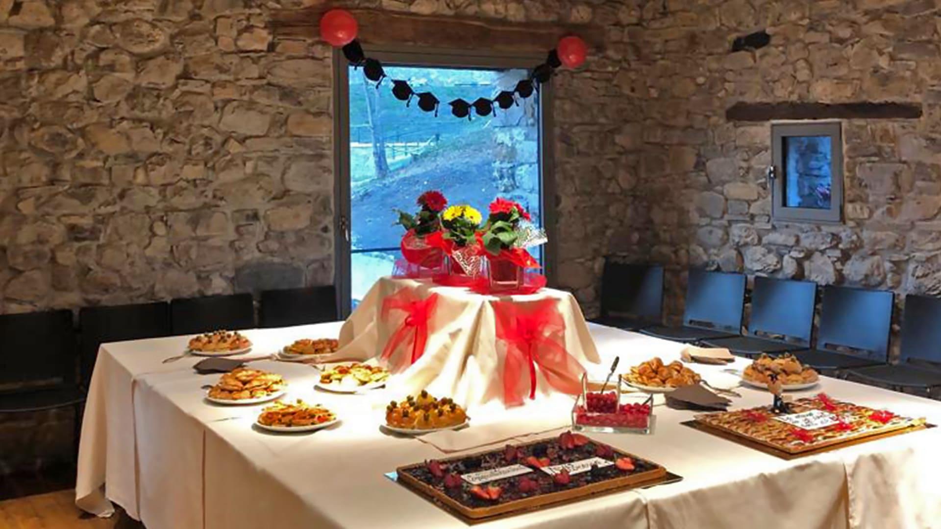 Come Addobbare Un Tavolo Per Confettata idee per buffet di laurea: menu, torta, allestimento e location