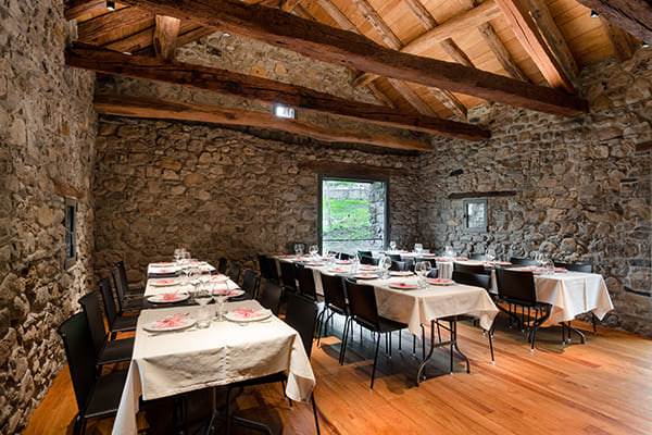 Sala capriata - location catering a Bergamo