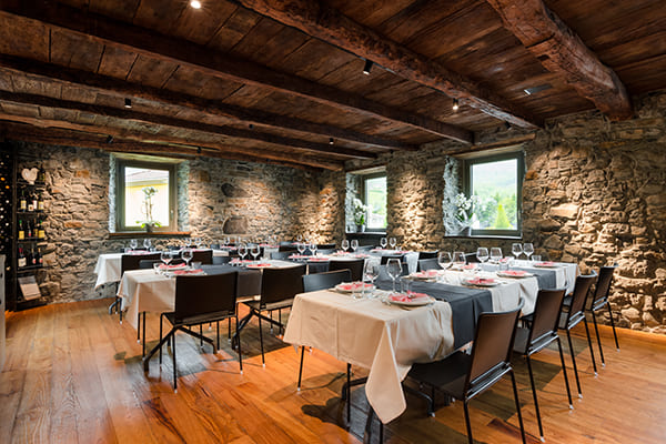 Sala travi - location catering a Bergamo