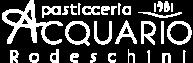 Logo bianco - Pasticceria Acquario