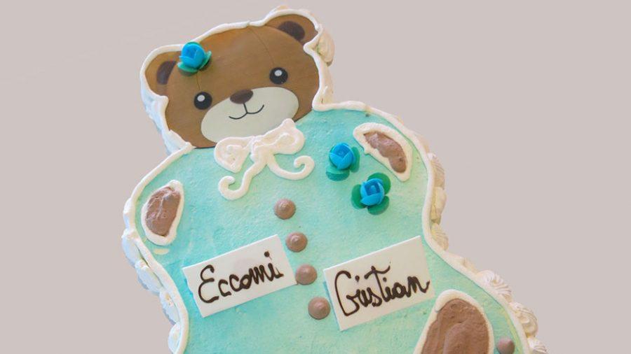 Torte per battesimo forme particolari - orsetto - idee torte per battesimo