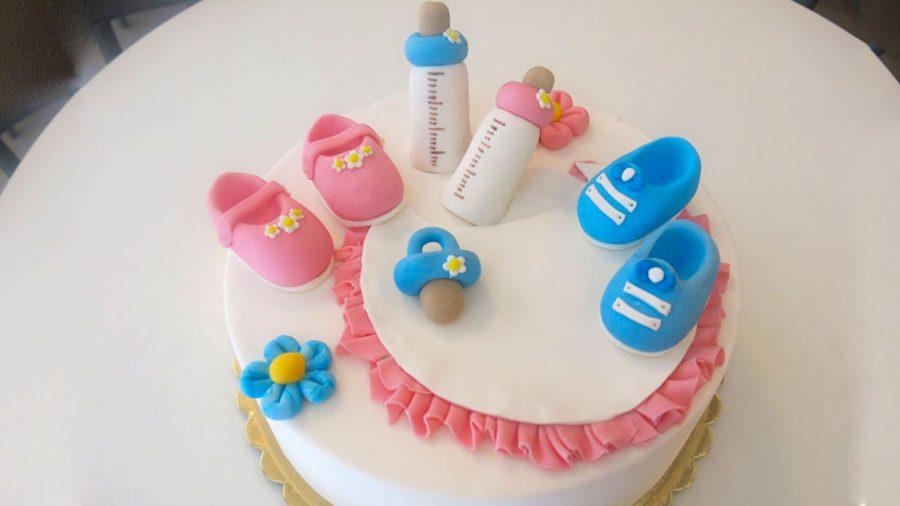 Torte per battesimo pasta di zucchero - decorazioni - idee torte per battesimo